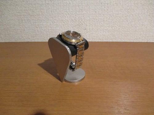 だ円丸台座ブラックシングル腕時計スタンド 190112