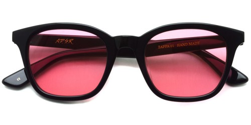 ZAPPA01【b】  (Shiny Black - Light Red lenses)/ A.D.S.R.