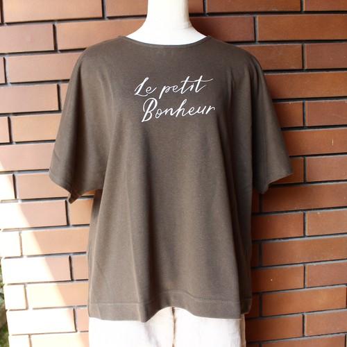 オリジナルTシャツ Le petit bonheur カーキ