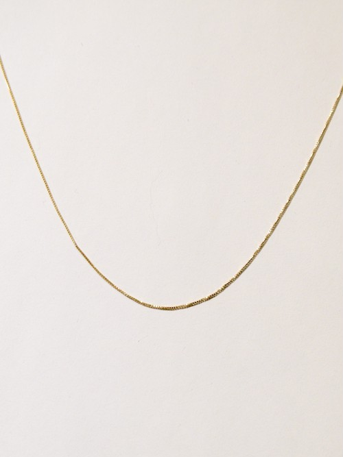 【GIGI】Gold line necklace 380mm
