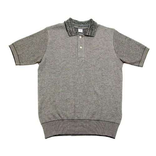 【gicipi】 イタリア製 コットン ニット ポロシャツ (Polo MM 2007 P) 〈Grey〉