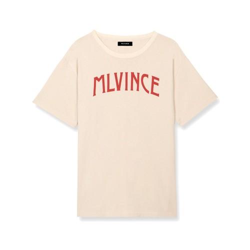 MLVINCE Arch Logo T-Shirts CREAM