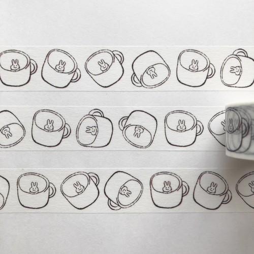 admi マスキングテープ ' Cup Usagi '