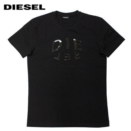 DIESEL ディーゼル T-DIEGOS-A1 A01746 メタリックロゴ グラフィックプリント 半袖Tシャツ 9XX-BLACK 9229297 [並行輸入]