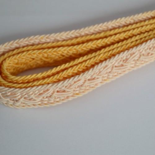 【レターパックOK】変わり織りオレンジ系グラデーションの夏帯締め