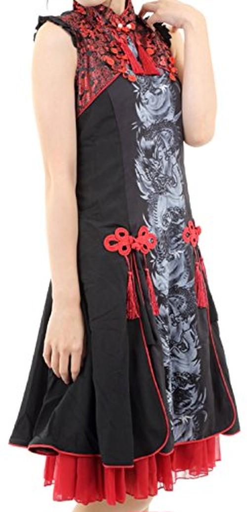 2f7dd836c5b3b レッド(XLサイズ) Hachigo ( ハチゴウ ) ゴスロリ 風 チャイナ ドレス ワンピース
