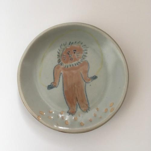 ライオンくん飛べるようになったね-小皿