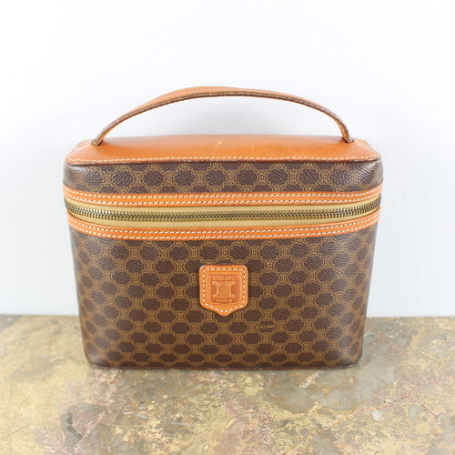 .OLD CELINE MACADAM PATTERNED BANITY BAG MADE IN ITALY/オールドセリーヌマカダム柄バニティバッグ 2000000038025