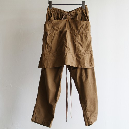 H.UNIT【 mens 】weather cloth apron easy pants