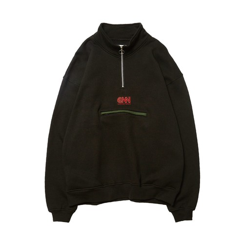 EVISEN ENN HALF ZIP SWEAT BLACK L エビセン スウェット