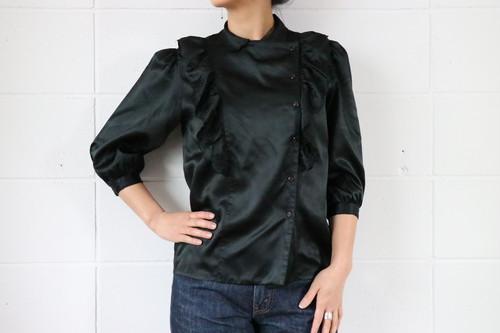 three-quarter sleeves frill blouse