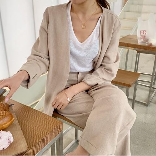 Linenジャケットセット
