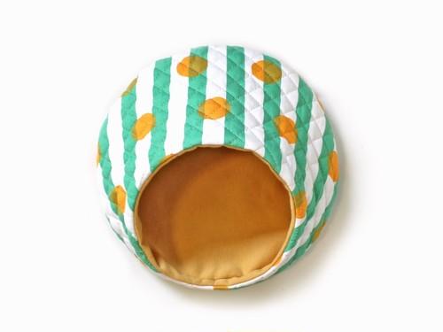 ハリちゃんのおやすみベッド(夏用) キャンディー グリーン / Hedgehog bed for summer