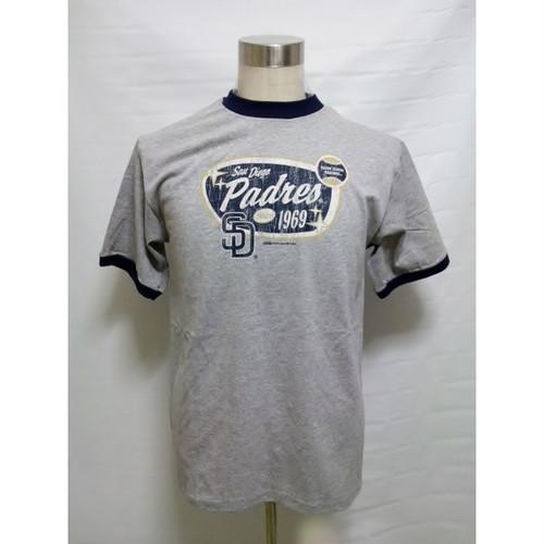 サンディエゴ パドレス Tシャツ SAN DIEGO PADRES MLB STITCHES 大きいサイズ B系 ストリート系 Tシャツ TEE T-SHIRTS グレー メジャーリーグ ベースボール 242