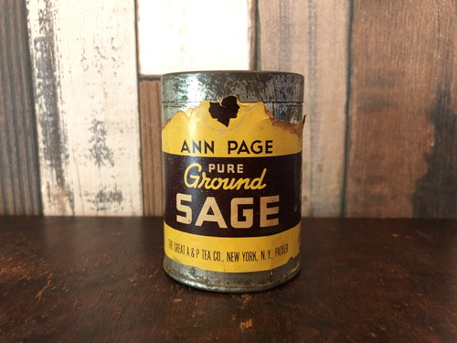 THE GREAT A&P「SAGE」ヴィンテージスパイス缶