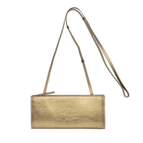 TIN BREATH Travel purse  Antique gold
