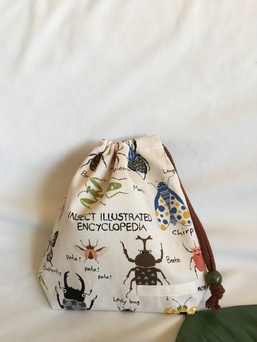【オーダーOK】入園入学給食袋コップ入れ巾着53昆虫図鑑