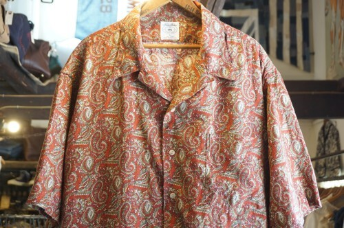90's Brooks Brothers paisely linen s/s Shirt