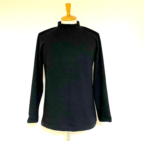 Bomber Heat Blast Warming Back Brushed Mock Neck Sweat Black