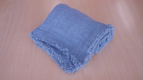 STONE BLUE - THROW / Linen Me