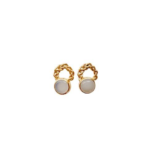 'white' pierced earrings