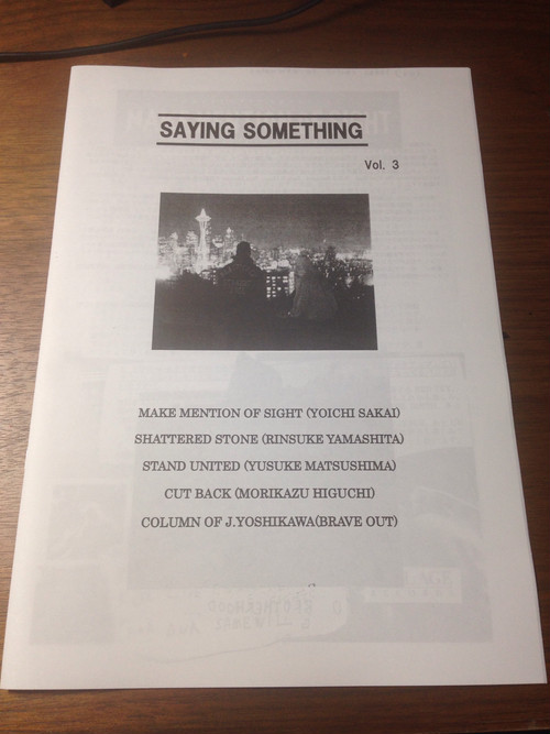 SAYING SOMETHING ZINE vol.3