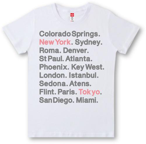 #436 Tシャツ CITY LOGO/BLKプリント