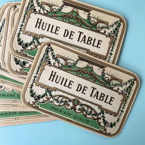 France ヴィンテージラベル(HUILE DE TABLE ) /  vp0123