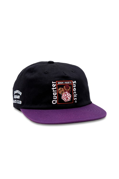 Quartersnacks PARTY CAP BLACK/PURPLE