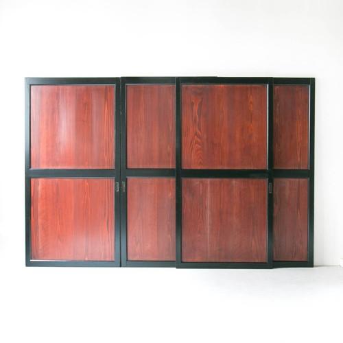 黒枠帯戸 4枚組