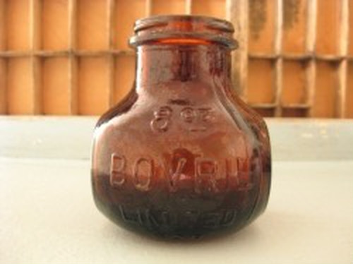 イギリスアンティーク【BOVRIL】ガラスボトル 8oz
