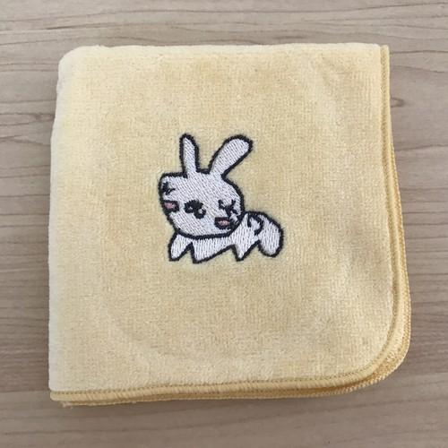 【上質】ワンポイント刺繍入りミニタオル