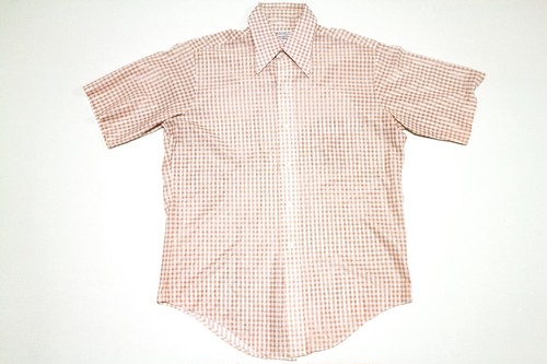 70s TOWN CRAFT GINGHAM CHECK SS SHIRT