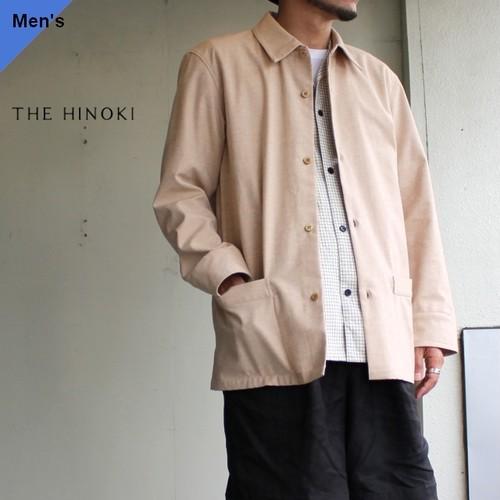 THE HINOKI オーガニックコットンドリルシャツジャケット  ブラウン TH19W-3