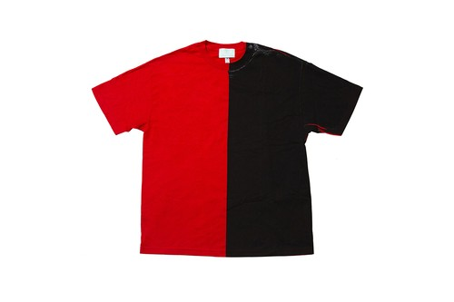 "EZ DO by EACHTIME. ""BLEND TEE""  RD/BK"