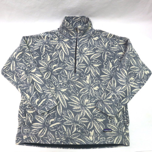 PATAGONIA HALF ZIP FLEECE made in U.S.A.(パタゴニア葉っぱ柄フリース)