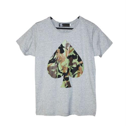 4bet BIG SPADE Tシャツ/グレー