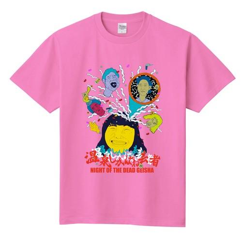【準備中/劇場物販あり】『温泉しかばね芸者』Tシャツ(ゲイシャピンク)