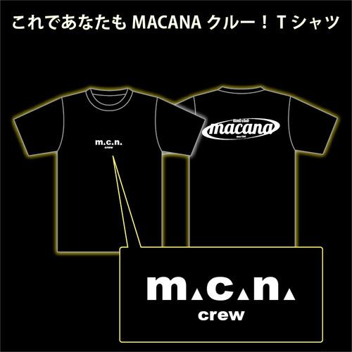 MACANA crew T-shirt【ブラック】