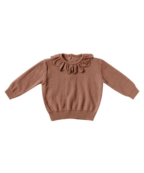 Quincy Mae(クインシーメイ)/Petal Knit Sweater / clay / 12-18m