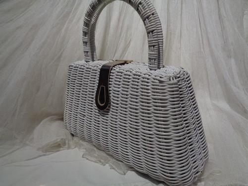 Vinyl basket handbag ビニールバスケットハンドバッグ