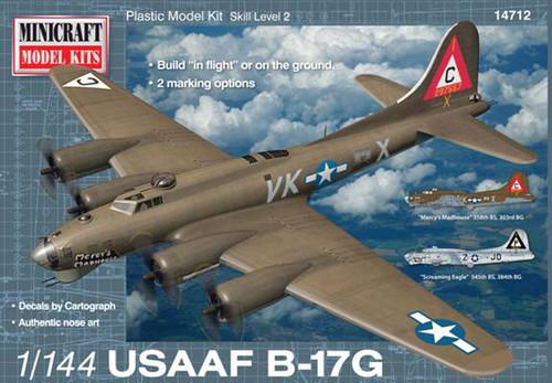ミニクラフト 1/144 WWⅡ アメリカ陸軍 四発戦略重爆撃機 ボーイング B-17G フライングフォートレス MC14712