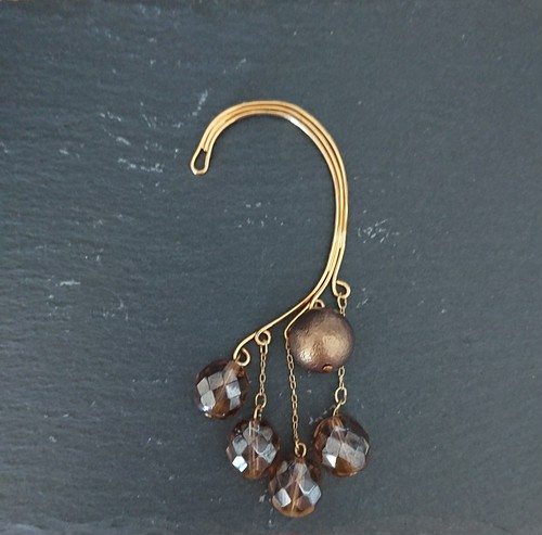 Czech beads & honing pearl with ear hook
