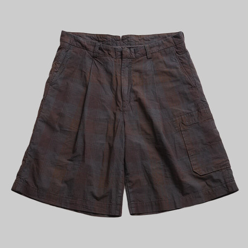 CC AGING WIDE WORK SHORTS-BLACK CHECK