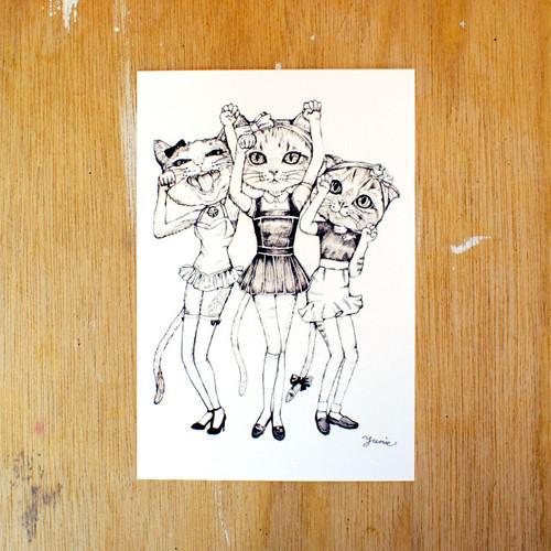 ポストカード150「ラッキーキャッツ」 pc-150 33