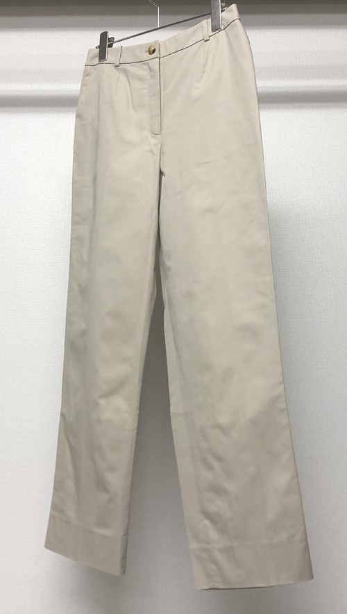 HERMES BY MARTIN MARGIELA COTTON TROUSERS