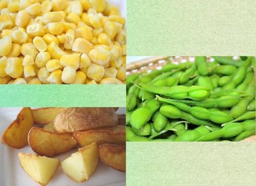 北海道産 冷凍野菜Aセット(コーン・枝豆・フライドポテト各2袋)