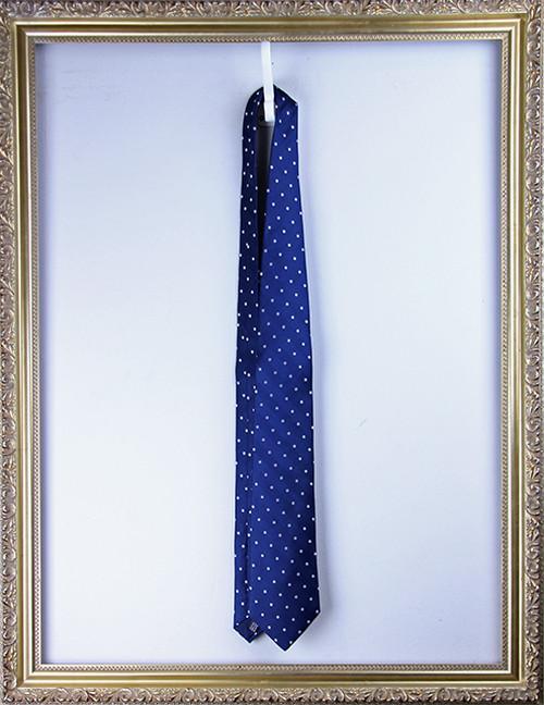 AtelierF&B Silk Dotted Tie -Blue アトリエF&B ドットタイ