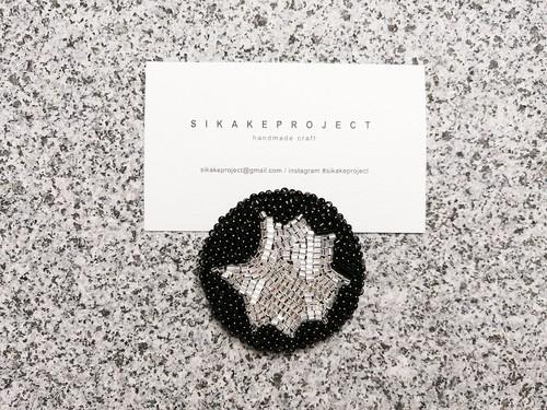● 一点もの / beads embroidery brooch 02