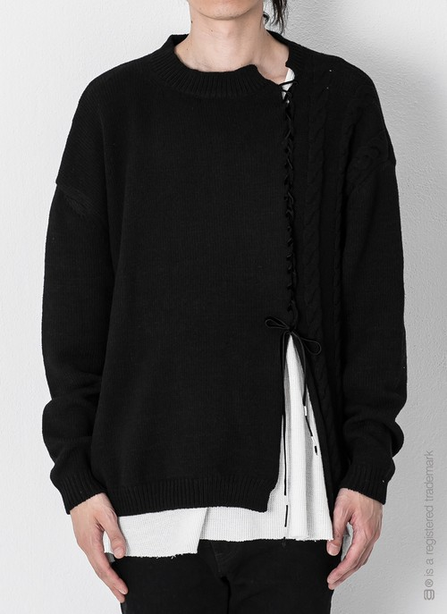 【AG by EXPERIMENT】3G 2FACE KNIT